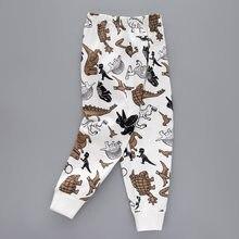 Verão outono bebê crianças impressão listrado criança clássico leggings meninos meninas calças 3-12y roupa interior do inverno