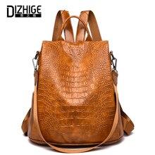 DIZHIGE Brand Fashion Backpack Women High Quality School Bags For Teenager Girl Luxury Female Zipper Anti Theft Travel Backpack