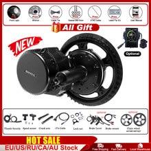 Bafang bbs02b 48v 750w ebike motor com display lcd 8fun mid drive kit de conversão bicicleta elétrica