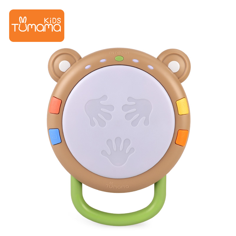 Baby's Hand Beat Drum, Baby's Educational Toys, Multi-function, Three In One, Dynamic Voice, 0-1-year-old Musical Instrument