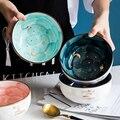 Керамическая миска, поднос для фруктового салата, серия звезд, милая миска для лапши, миска для лапши в скандинавском стиле для ресторана, до...
