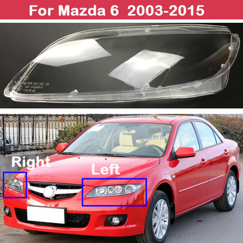 Headlamps Styling Cover Transparent Lampshades Lamp Shell Masks Headlight Lens Covers For Mazda 6 2003-2015