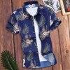 2020 New Summer Mens Short Sleeve Beach Hawaiian Shirts Cotton Casual Floral Shirts Regular Plus Size Mens clothing Fashion#G2 Men's Fashion