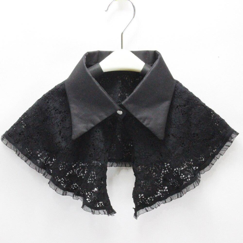 Lead Tip Black Lace Dickie Shawl Camisole Vest Decoration Detachable Fake Collar