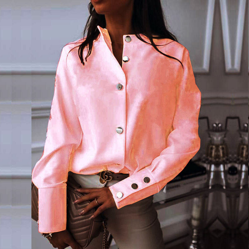 Elegant White Blouse Shirt Women's Long Sleeve Buttton Fashion Woman Blouses 2020 Womens Tops and Blouses Solid Spring Tops 2