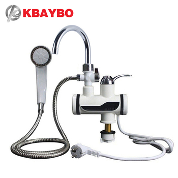 KBAYBO 3000W Water Heater Bathroom Kitchen instant electric water heater tap LCD temperature display Tankless faucet 1