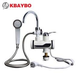 KBAYBO 3000 واط سخان مياه الحمام المطبخ لحظة سخان مياه كهربي الحنفية LCD عرض درجة الحرارة Tankless صنبور