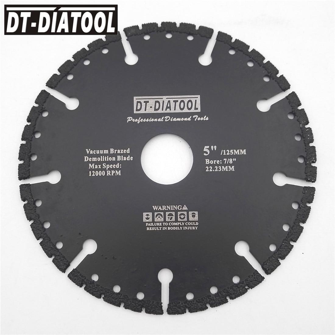 DT-DIATOOL Vacuum Brazed Diamond Saw Blade All Purpose Demolition Blade Cutting Disc Steel Metal Stone Cast Iron Rebar Aluminum