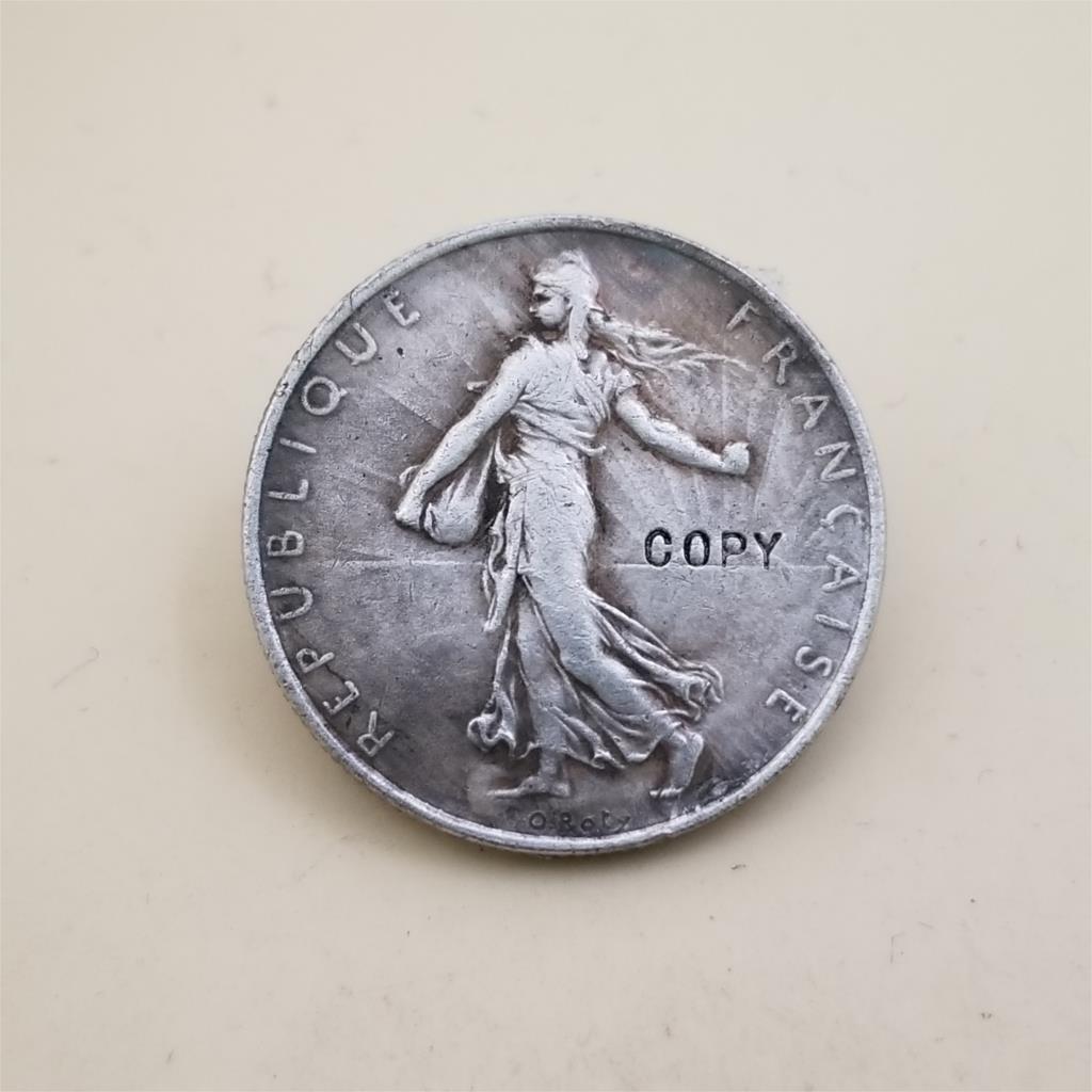 1928 2 франков, копия монеты памятные монеты-копии монет