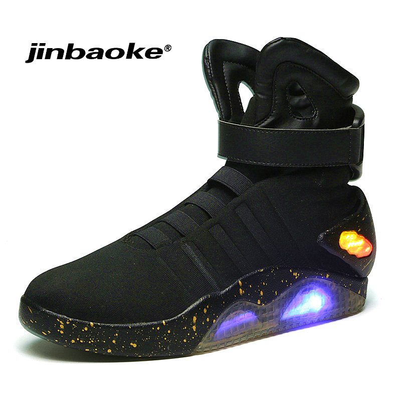 Future World Soldiers Men Basketball Shoes Limited Edition Led Luminous Light Up Hight Top Boots USB Charge Walking Shoes 45 46