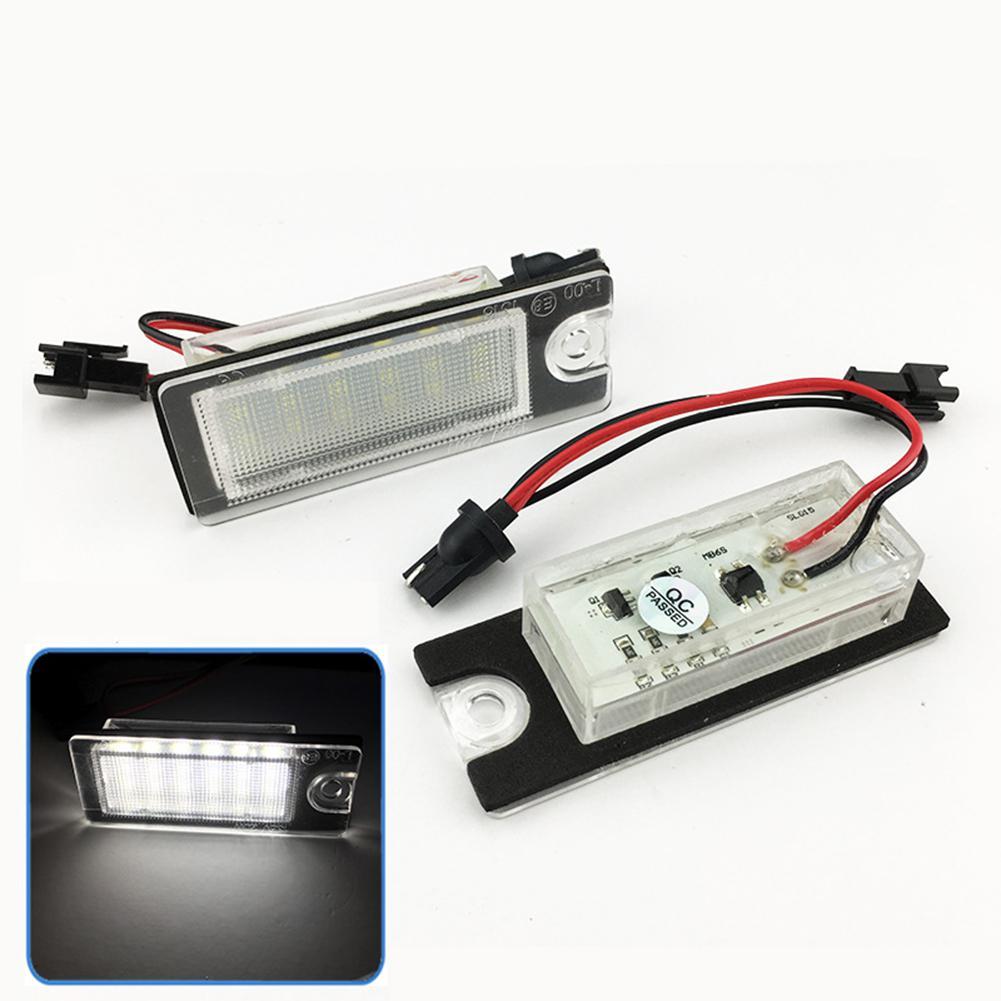 18 светодиодный светильник номерного знака белый номерной знак лампа 6500K светодиодный светильник номерного знака Лампа s лампа для Volvo V70/CX70/...