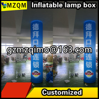 MZQM 2.5m high inkjet inflatable lamp post/customized inflatable led toy lamp post