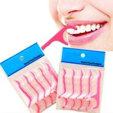 100 шт Пластик зубная нить Stick нейлон провода Портативный уход за зубами очиститель для чистки зубов набор инструментов для гигиены полости рта