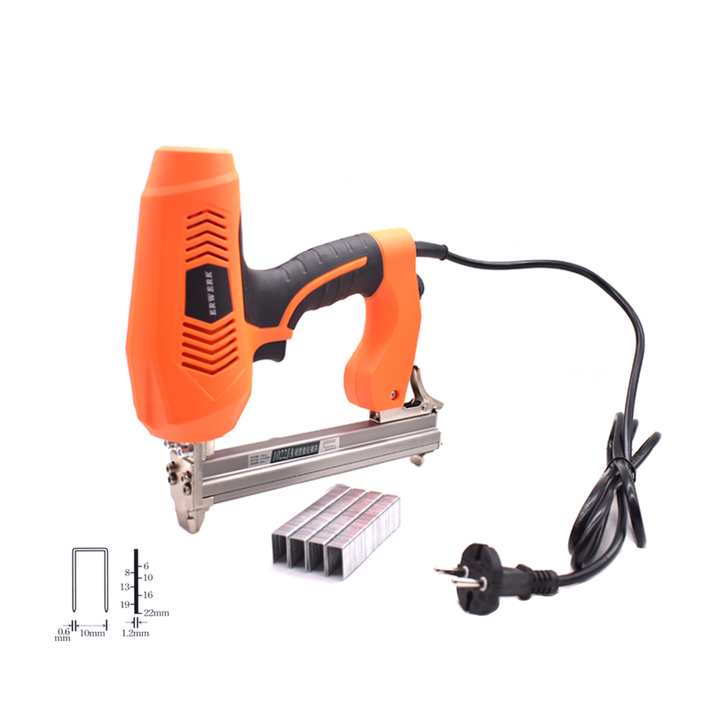 1022J Electric Staples Gun With 300Pcs Staples U Nails Electric Stapler For Framing Woodworking