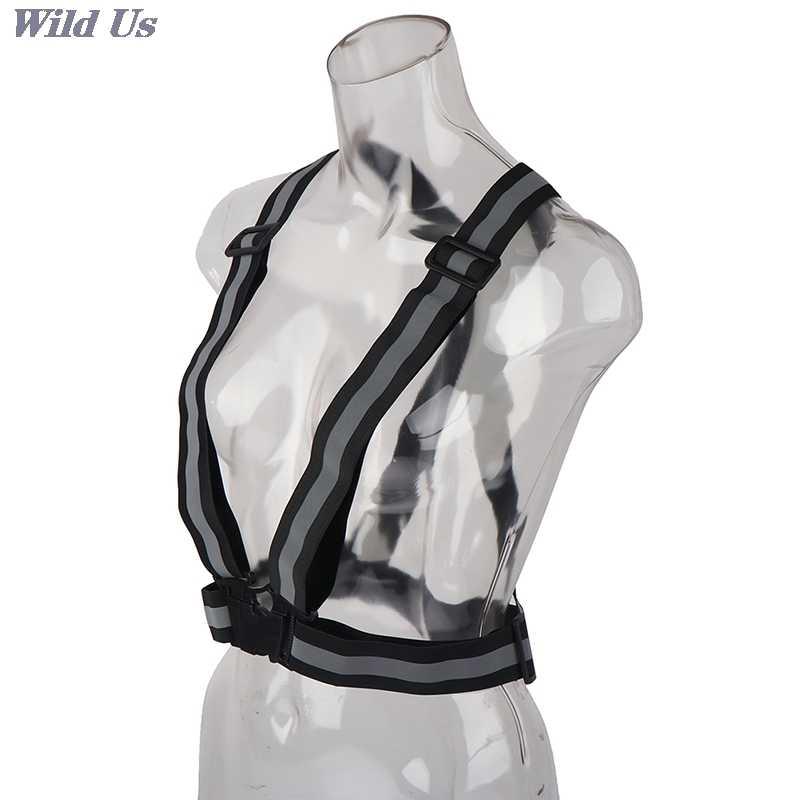 Güvenlik ayarlanabilir güvenlik yansıtıcı görünürlük çizgili yelek ceket vurgulamak için gece sürme bisiklet spor 1 adet