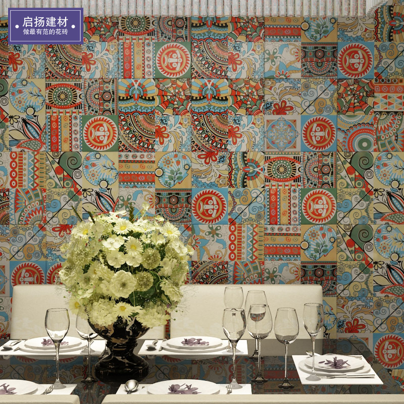 Indian Tile Color Brick Retro Laminate Tile Living Room Bathroom Kitchen Wall And Floor Tiles Vintage Small Tile 300