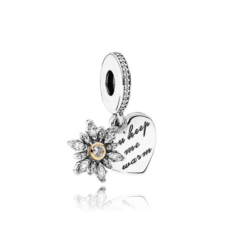 Estilo Simple esmalte vestido casa pluma oso labios letra corazón perlas cuentas ajuste Pandora dijes pulseras para mujeres que hacen joyas
