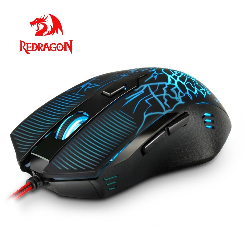 Redragon M608 High Quality USB Wired Gaming Mouse 3200DPI 6 Buttons Ergonomic Design For Desktop Computer Mice Gamer LOL PC
