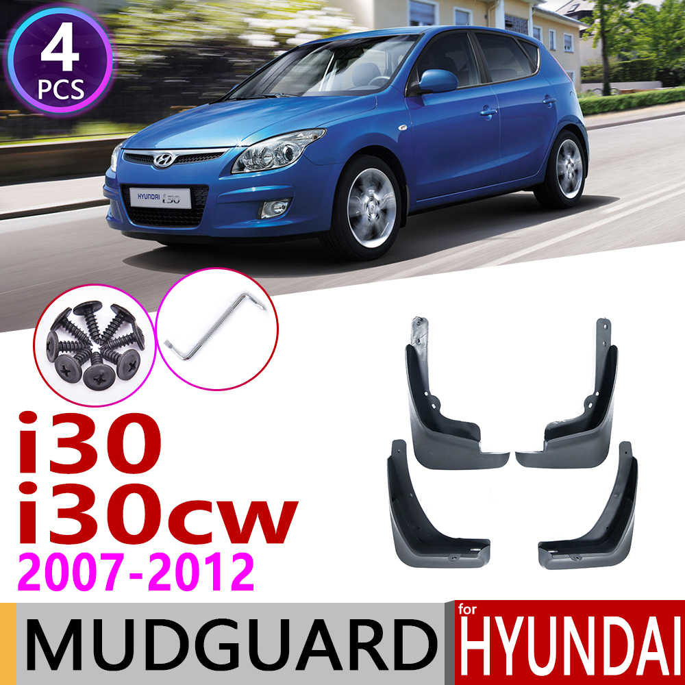 รถ Mudflap สำหรับ Hyundai i30 i30cw Wagon 2007 ~ 2012 FD Fender Mud Guard Flap Splash Flaps Mudguard อุปกรณ์เสริม 2008 2009 2010 2011