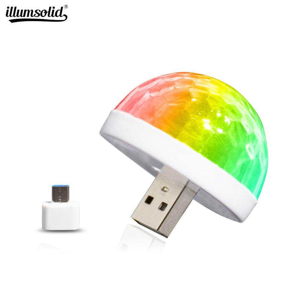 مصغرة USB LED ديسكو ضوء المرحلة المحمولة الأسرة حفلة كرة سحرية ضوء ملون بار نادي المرحلة تأثير مصباح للمنزل كاريوكي ديكور