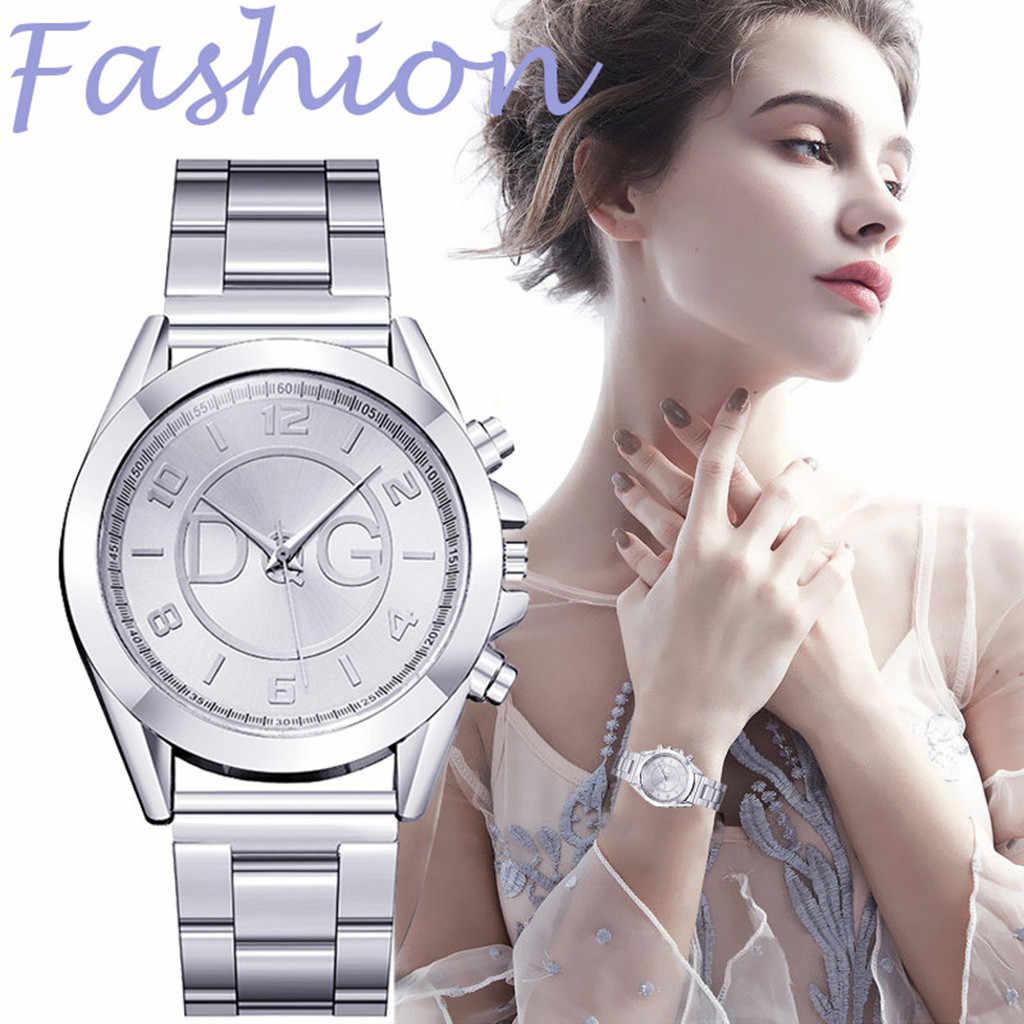 2019 donne Orologi di Marca di Lusso In Acciaio cintura D'argento di Modo Relogio Feminino Semplice Reloj Mujer Zegarek Damski Regalo