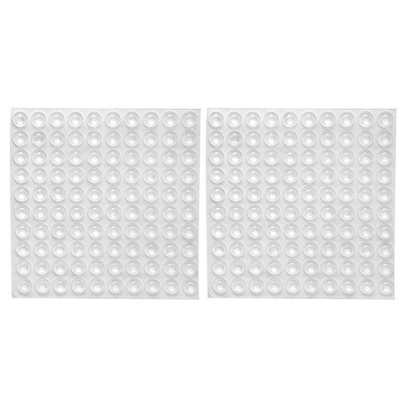 200x Transparent Rubber Feet Adhesive Bumper Pads Self Stick Bumpers Sound Dampening Door Cabinet Buffer Pads, 8*2.5mm
