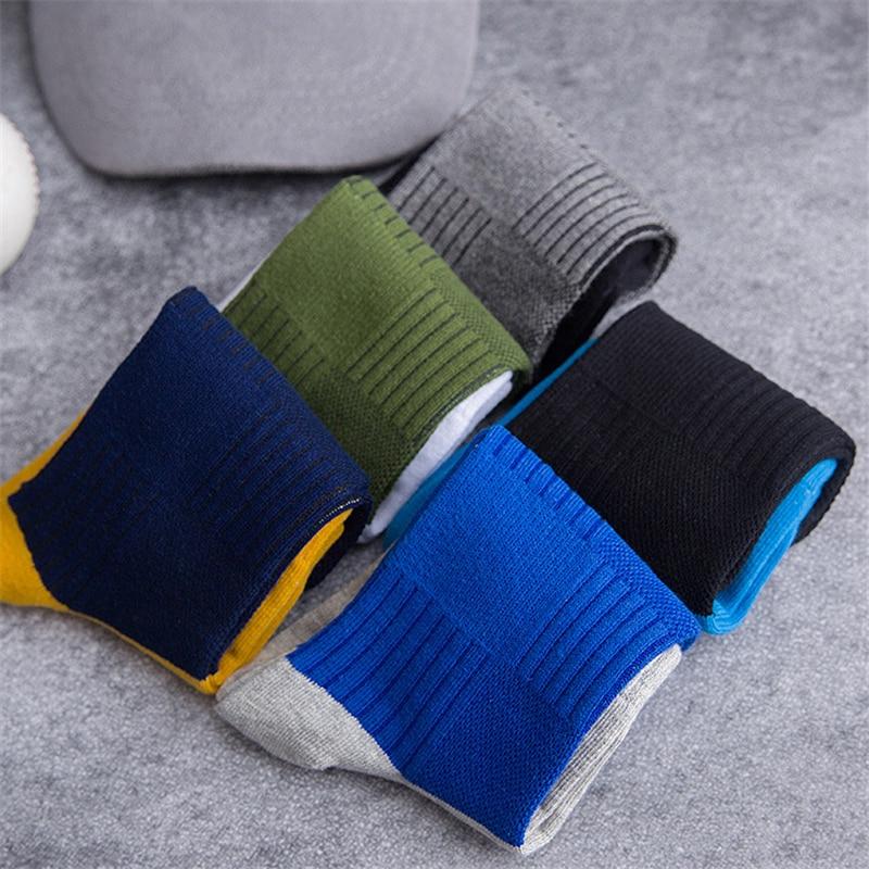 New Autumn Winter Men Cotton Crew Socks For Male Patchwork Colors Classic Business Men's Socks Dress Socks Man Meias