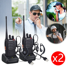 1PCS/2PCS For Baofeng BF-888s Walkie Talkie Radio Station UHF 400-470MHz 16CH Radio Brand New And High Quality