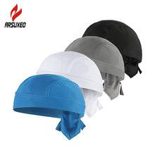ARSUXEO-casquette de cyclisme pour hommes, bandana Anti-sueur UV, couvre-chef de Sport en plein air respirant à séchage rapide