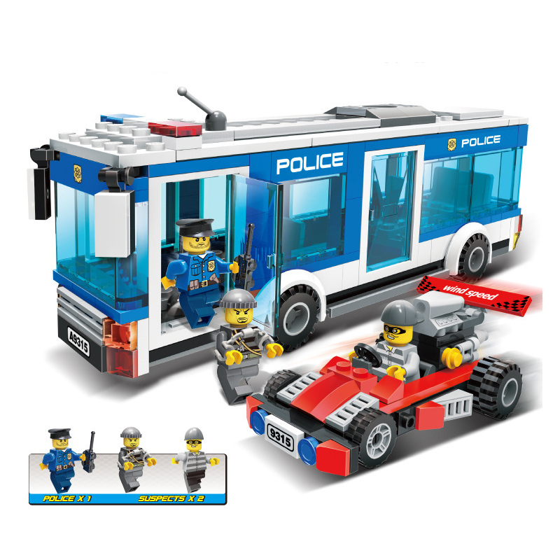 9315 252pcs SWAT/Police Constructor Model Kit Blocks Compatible Legoinglys City Bricks Toys For Boys Girls Children Modeling