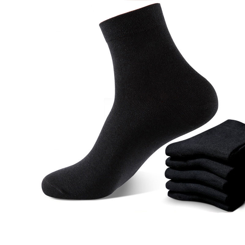 10 Pairs Black White Socks Men Dress Harajuku High Quality Combed Cotton Set Crew Socks Gifts For Men Breathable Soft Fashion