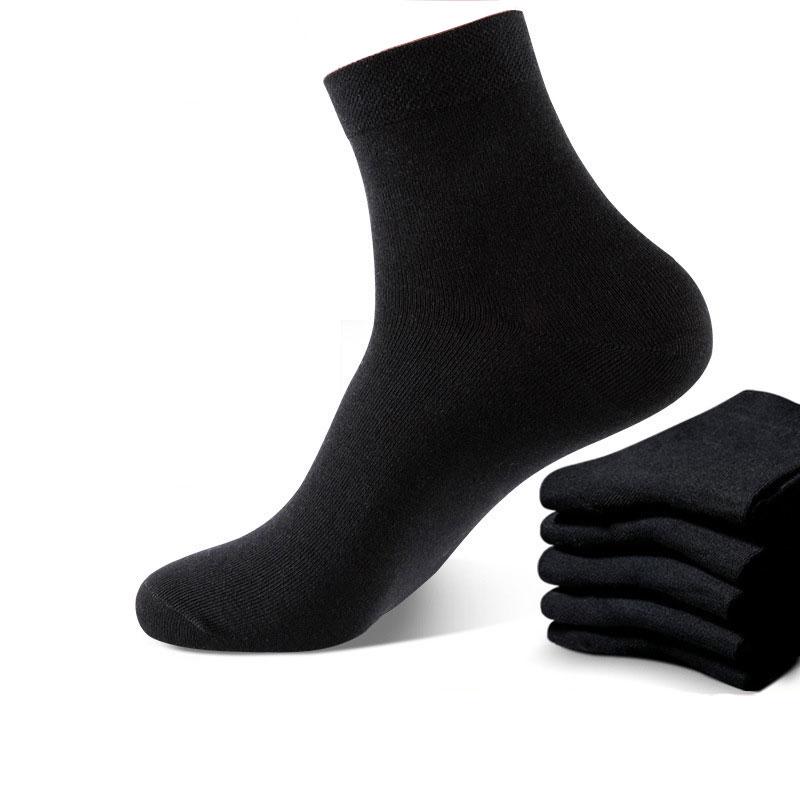 10 Pairs Black White Socks Men Dress Harajuku High Quality Combed Cotton Set Crew Socks Gifts For Men Breathable Soft Fashion