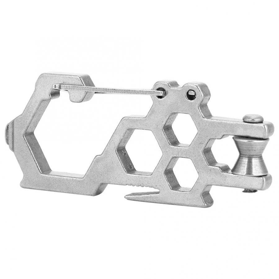 Climbing Pulley Stainless Steel Heavy Duty Rope Pulley Block Climbing Safety Equipment Multi-function Tool Outdoor