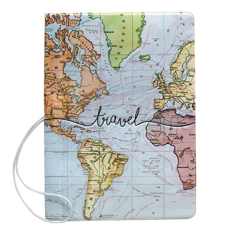 1 Pcs Hot Sale World Map Travel Passport Cover PVC Holder Travel Passport Cover Case Brand Passport Holder Documents Folder Bag