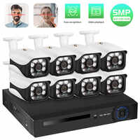 Fuers CCTV System 8CH NVR 5.0MP POE Camera Surveillance System H.265 Security Waterproof Camera Alarm Video Recorder Face Record