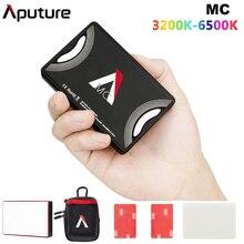 قبل البيع Aputure AL MC MC RGBWW الإضاءة الفيديو مصباح ليد صغير 3200 K 6500 K RGB HSI/CCT/FX ضوء سيلفي لسوني DSLR كاميرا كانون
