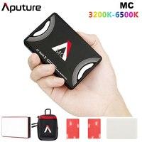 Aputure AL MC MC RGBWW Lighting Video Mini LED Light 3200K 6500K RGB HSI/CCT/FX Light Selfie for Sony DSLR Camera Canon