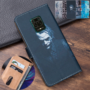 Clown Leather Flip Book style Cover For Xiaomi Redmi Note 9S 4GB 64GB Global Version smartphone Redmi Note 9 S note9s Floral She(China)