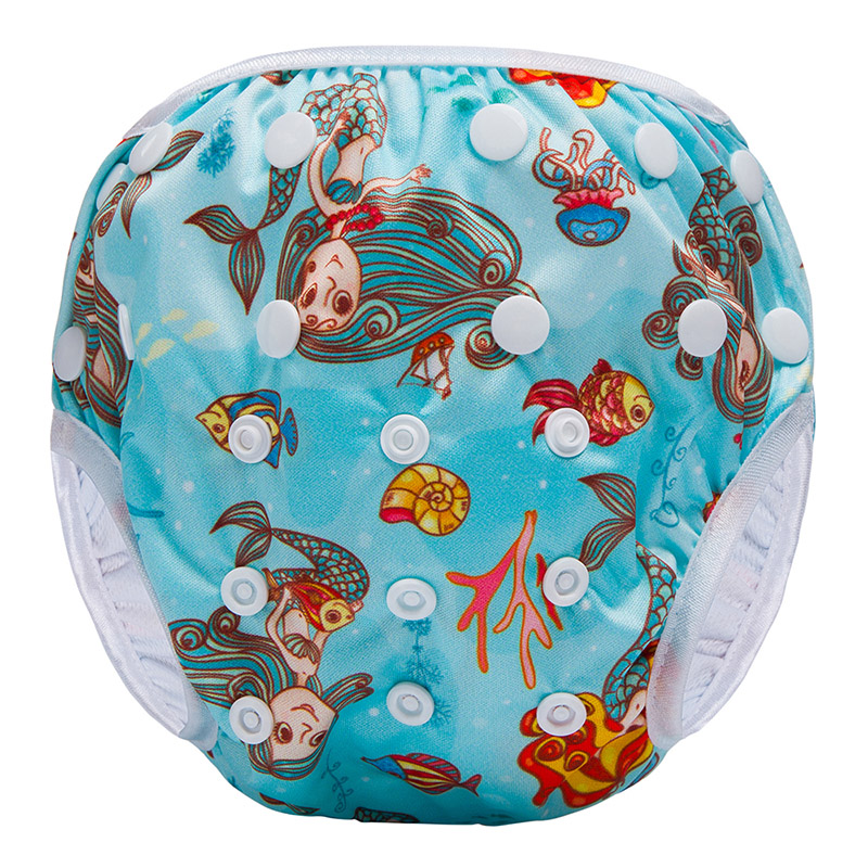 Baby Reusable Swimmer Nappy PUL Waterproof Comfort Cloth Baby Swimming Diaper Factory SWM-F5