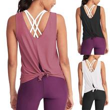 Kobieta T-shirt dla odzież sportowa Fitness kobiety siłownia koszulka sportowa Top do jogi zbiornika bez pleców koszulki treningowe odzież sportowa dla kobiet tanie tanio ISHOWTIENDA WOMEN Wiosna AUTUMN COTTON Pasuje prawda na wymiar weź swój normalny rozmiar Yoga Shirt Active Tank Top Gym Short