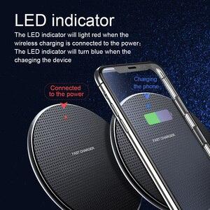 Image 5 - 10 w 빠른 qi 무선 충전기 삼성 s10 s9 플러스 참고 8 9 무선 충전 패드 아이폰 11 프로 최대 xr 무선 전화