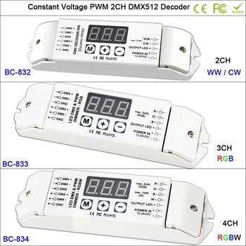 DC12V-24V CV PWM DMX512/1990 led decoder 2CH 3CH 4CH DMX LED Controller for SMD 5050 WW CW / RGB /RGBW led lamp strip tape цена 2017