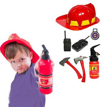 Four Types Fireman Kids Simulation Costumes Suit For Girl Boy Party Uniforms Set Toy Firefighter Funny Adjustable Hat tanie i dobre opinie MezoJaoie Chiny certyfikat (3C) none 14 Lat i up Zawodów role-playing toys firefighter fire toy drop shipping wholesale