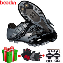 Cycling-Shoes Boodun MTB Locking Ultralight Sports NEW Outdoor Breathable Professional