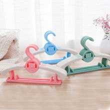 Buy 5Pcs/Lot Baby Clothes Support Telescopic Hanger Non-Slip Cartoon Plastic Hanger Retractable Child Adult Dual-Use Hanger directly from merchant!