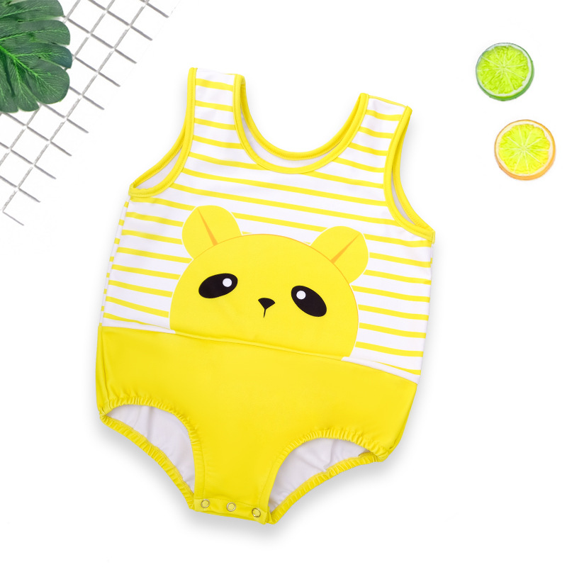Baby Swimsuit Children Girls BOY'S Baby One-piece South Korea Cute Boys And Girls Princess Children Tour Bathing Suit