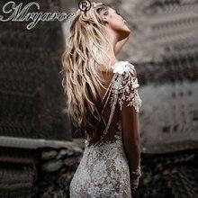 Vestido de novia único de encaje de lujo Bohemia boda manga larga espalda abierta sirena vestidos de novia Mryarce 2020
