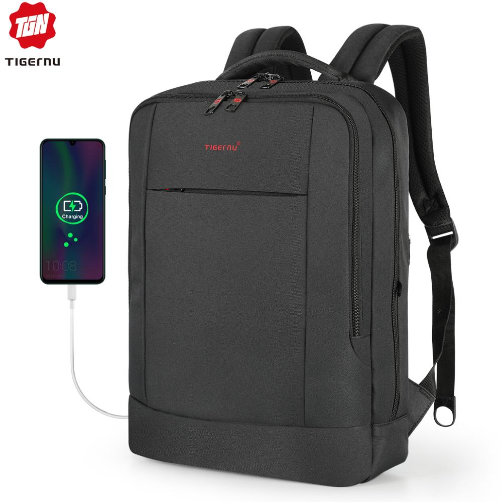 Tigernu 15.6inch Laptop Backpack USB Charging Youth Slim Backpack For Women Male Bagpack School Backpack For Teens