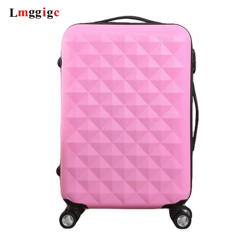 Diamond Grain Suitcase,ABS Trolley Case,24