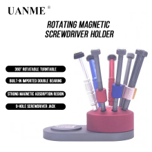 360 Degree Rotation Storage Box for Repairing Tools Holder 360-Degree Rotating tool Magnetic storage screwdrivers 9 Hole Bits